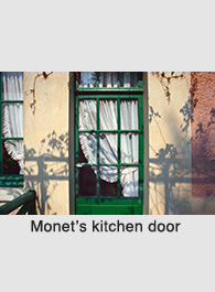 Photograph of Monet's door by Rick Steadry